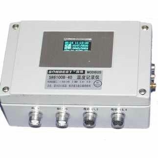 Quality RS485 interface industrial grade 4-channel 40-point DS18B20 temperature recorderTYPE:SR6100B-40 for sale