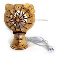 Buy cheap 3D DIY wooden table LED lamp from wholesalers
