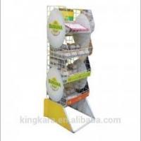 Buy cheap KingKara KASR217 wood tray stand with folding poster stand for bakery showcase product
