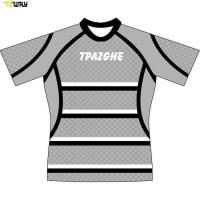 Buy cheap Full dye sublimation custom striped rugby jersey from wholesalers