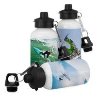 Buy cheap White & Silver Sublimation Heat Transfer Aluminium Water Bottles Wholesale 400~600ml from wholesalers
