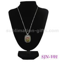 Buy cheap Photo Heat Transfer Necklaces Jewelry Sublimation Personalize Dress Up Accessories V01 from wholesalers