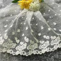 Buy cheap 28cm Width High Quality Embroidery Light Wihte Color Swiss Voile Lace XZ187# from wholesalers