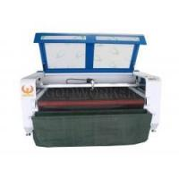 Buy cheap GW-1610 textile fabric cloth auto feeding laser cutting machine with conveyor & vacuum table from wholesalers