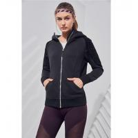 Buy cheap Women's Sweatshirt Pockets Floral Arms Zip Up Hoodie from wholesalers