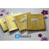 Buy cheap per bag Golden embossing chocolate aluminum foil wrapping paper ferrero rocher packaging from wholesalers