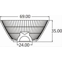 Buy cheap GP Series-Hot sale high efficiency led reflector cup with led lens for track light glow light from wholesalers