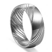 Buy cheap Hot Sale Authentic Etched Damascus Steel Men's Wedding Band 8mm from wholesalers