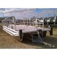 Buy cheap 7.6m X 2.9m Aluminum Pontoon Boat Simple Custom Kit Floating With Plate Decking from wholesalers