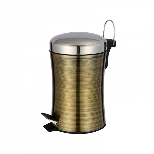 Quality HDB-10032 Brassy Finger-print proof waste bin for sale