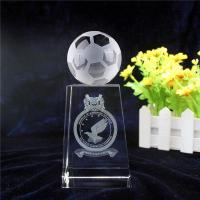 Buy cheap 3d laser engraving crystal soccer ball trophy Item No.: VCT-1780 from wholesalers