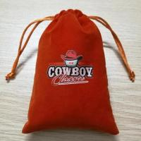 Buy cheap jewelry custom velvet pouch bag with drawstring from wholesalers
