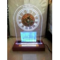 Buy cheap LED WOOD BASE ACRYLIC AWARD TROPHY DISPLAY WITH CLOCK SIGN from wholesalers