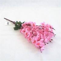 Buy cheap Chinese Supplier Cheap Wholesale Artificial Silk Flowers Wedding Decoration Red Peach Blossom from wholesalers