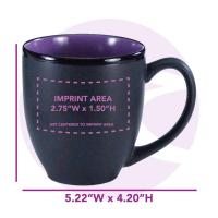 Buy cheap 16 oz. Purple In / Matte Black Out Hilo Bistro / M1376-2583 from wholesalers