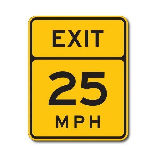 Buy cheap Construction Signs W13-2 Advisory Exit Speed Limit (Variable) from wholesalers