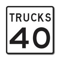 Buy cheap Construction Signs R2-2P Truck Speed Limit from wholesalers