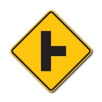 Buy cheap Construction Signs W2-2 Side Street from wholesalers