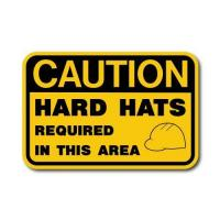 Buy cheap Construction Signs IS-115 Caution - Hard Hats Required from wholesalers