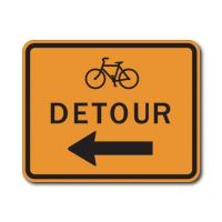 Buy cheap Construction Signs M4-9cL/R Bike Detour Left/Right Arrow from wholesalers