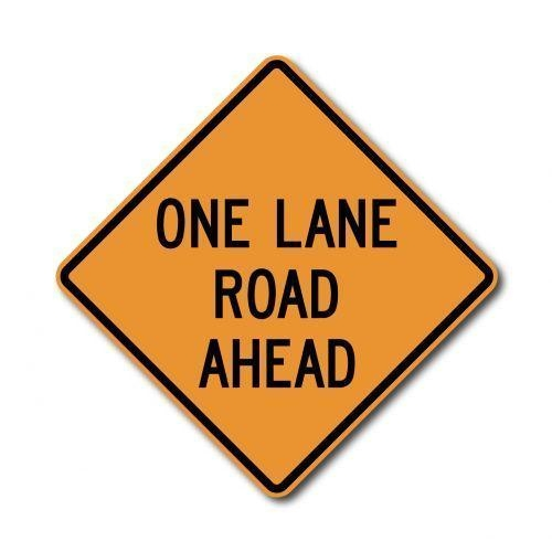 Buy cheap CW20-4 One Lane Road Ahead from wholesalers