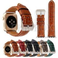 Buy cheap Crocodile Genuine Leather Watch Band for iWatch Apple 38mm_42mm_with retail package from wholesalers