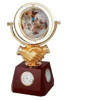 Wooden Clock With Globe Quality Wooden Clock With Globe